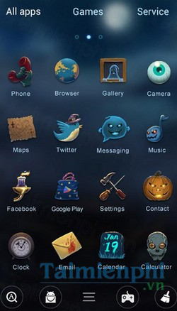 download halloween go launcher theme cho android