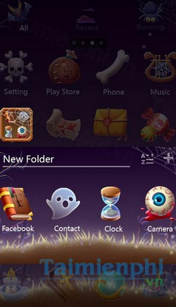 download pumpkin head go laucher theme cho android