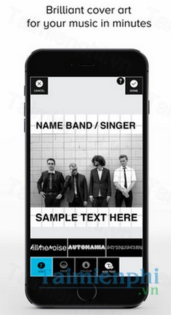 download tad music cover art design cho iphone