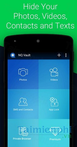 download vault hide sms pics videos cho android