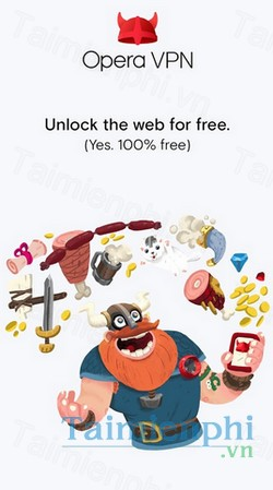 download opera free vpn cho android