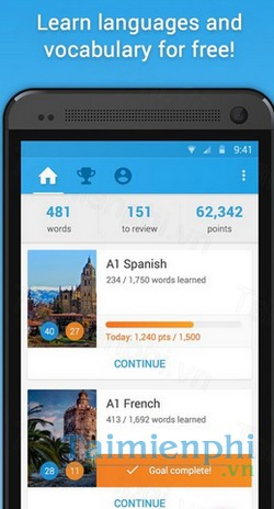 Memrise - Học ngoại ngữ trên Adroid -Học ngoại ngữ trên Adroid-Android