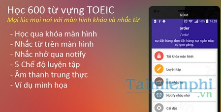 download 600 tu vung toeic lockscreen cho android