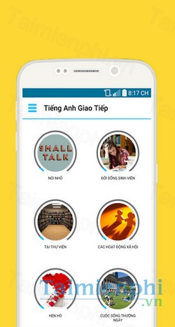 download hoc tieng anh that de cho android