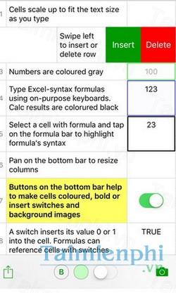 download notesxls tiny spreadsheet cho iphone
