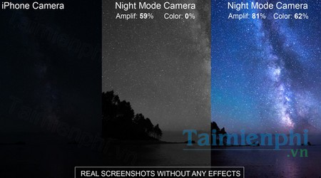 download night photo and video shoot cho iphone
