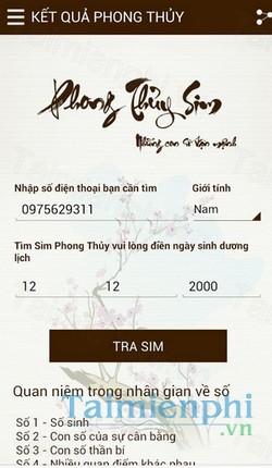 download phong thuy sim 20 cho android