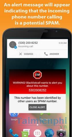 Blacklistcall Block numbers cho Android - Chặn số liên lạc Spam -Chặn