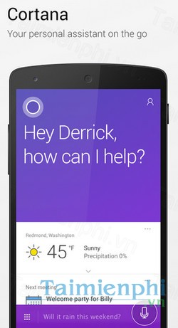 download cortana cho android