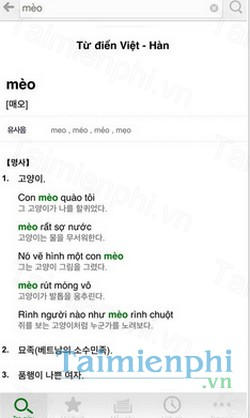 download korean vietnamese dict cho iphone