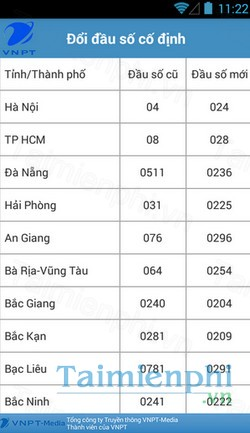 download vnpt update contact cho android