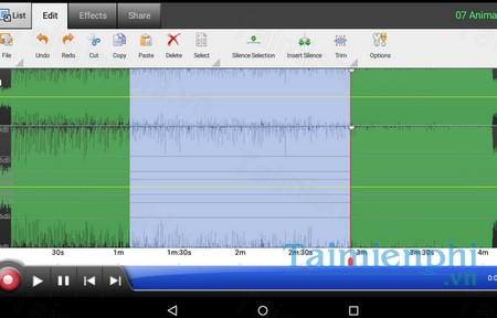 download wavepad audio editor free cho android