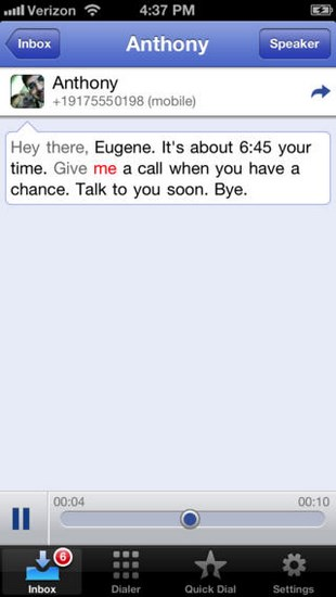 how to use google voice iphone