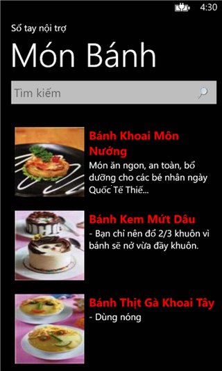 Sổ tay nội trợ for Windows Phone