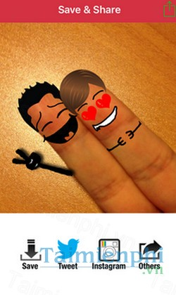 download cool finger faces cho iphone