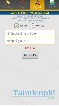 download gia vang 24h cho android