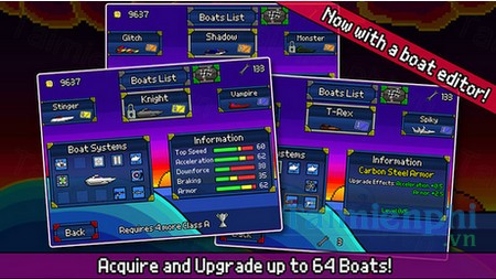 download pixel boat rush cho iphone