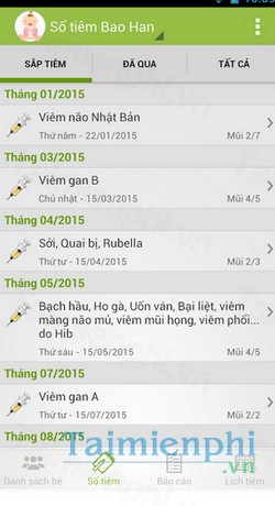 download so tiem chung cho android
