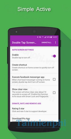 download double tap to screen off cho android