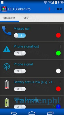 download led blinker cho android