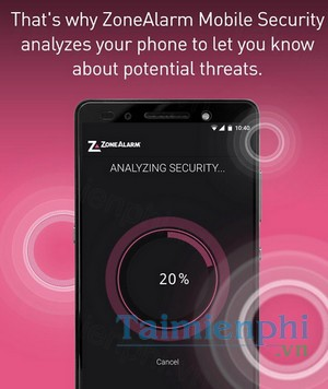 download zonealarm mobile security cho android