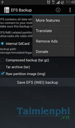 download efs imei backup