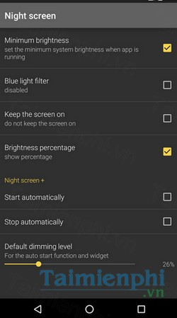 download night screen cho android