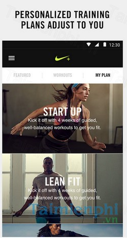 download nike training club cho android