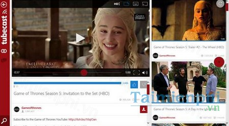 download tubecast cho winphone