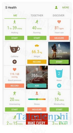 download s health cho android
