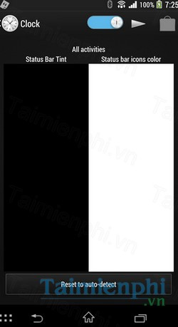 download tinted status bar cho android