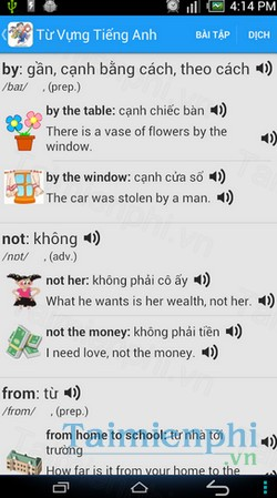 download tu vung tieng anh cho android