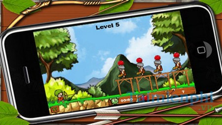 download bowmaster apple shooter cho iphone