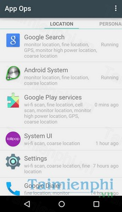 download app ops cho android