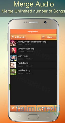 download audio mp3 cutter mix converter cho android