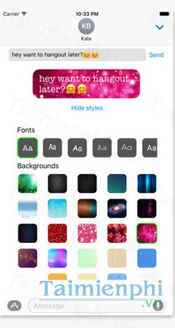 download custom message styles cho iphone
