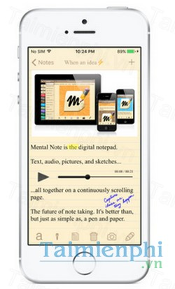 download mental note lite cho iphone