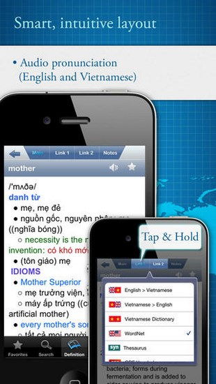 English Vietnamese English Dictionary for iOS